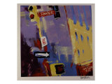 Spring Street Signs Giclee Print by Patti Mollica