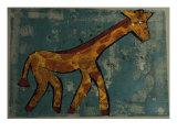 Giraffe Giclee Print by Leslie Xuereb