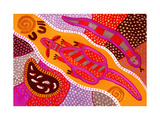Aboriginal Painting Reproduction procédé giclée par John Newcomb