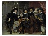 Chamber of Cross-Bow Men at St. Sebastian in Amsterdam Giclee Print by Bartholomeus Van Der Helst