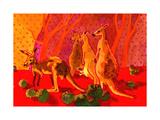 Roo Herd Giclee Print by John Newcomb