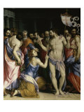 The Incredulity of St. Thomas Giclée-tryk af Francesco Salviati