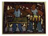 Duo Xylophone Drums Giclee Print by Leslie Xuereb