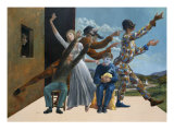 Commedia Dell'Arte Giclee Print by Andre Rouillard