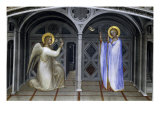 The Annunciation Giclée-tryk af Giusto De' Menabuoi
