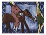 Mordecai and Haman Giclee Print by Leslie Xuereb