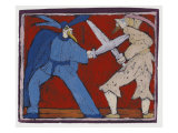 The Duel Giclee Print by Leslie Xuereb