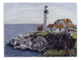 Lighthouse, Maine Giclee Print by Diantha York-ripley