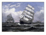 Tall Ships Giclee Print by Xanthus Russell Smith