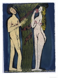 Adam and Eve Giclee Print by Leslie Xuereb