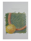 Tennis Racquet Giclee Print by Patti Mollica