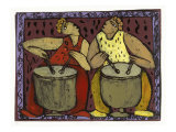 Two Drums Giclee Print by Leslie Xuereb