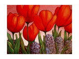 Tulips and Hyacinths Giclee Print by John Newcomb