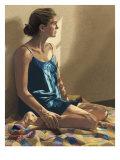 Seated Woman Giclée-Druck von Helen J. Vaughn