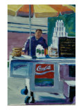 Pretzel Vendor Giclee Print by Patti Mollica