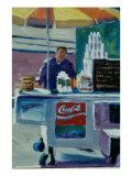 Pretzel Vendor Giclee Print by Patti Mollica