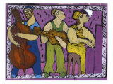 The Jazz Club Giclee Print by Leslie Xuereb
