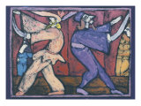 The Ten Paces (Commedia Dell'Arte) Giclee Print by Leslie Xuereb