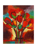 Kandinsky&#39;s Tulips Gicl&#233;e-Druck von John Newcomb