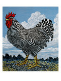 Rooster and Clouds Giclee Print by Barry Wilson