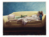 Woman Reclining on a Sofa Giclee Print by Helen J. Vaughn