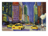 Racing Taxis, New York City Giclee Print by Patti Mollica