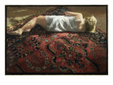 Young Woman on an Oriental Rug Giclee Print by Helen J. Vaughn
