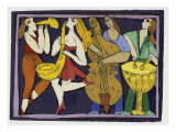 Jazz Band I Giclee Print by Leslie Xuereb