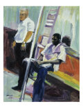 Subway Riders, New York City Giclee Print by Patti Mollica