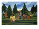 Strolling in the Park Giclee Print by Anna Belle Lee Washington
