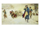 George Washington at Valley Forge Reproduction procédé giclée par Frederick Coffay Yohn