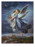 The Guardian Angel Giclee Print by Wilhelm Von Kaulbach