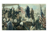 Washington Landing at Foot of Wall Street, NY Giclee Print by Frederick Coffay Yohn