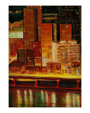Pittsburgh Skyline  2 Cityscape Giclee Print by Rhonda Watson