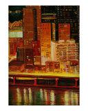 Pittsburgh Skyline  2 Cityscape Giclee Print by Rhonda Watson