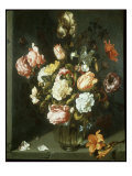 Tulips and Peonies in a Vase Giclée-Druck von Jacob Woutersz Vosmaer