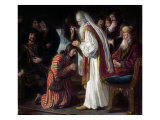 Samuel Annointing David Giclee Print by Jan Victors