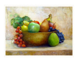 Multi Fruit Bowl Giclee Print by denise jenkins