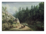 Erie Canal Near Little Falls Giclee Print by William Rickaby Miller