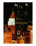 Pittsburgh Skyline 1 Cityscape Giclee Print by Rhonda Watson