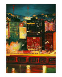 Pittsburgh Skyline 3 Cityscape Giclee Print by Rhonda Watson