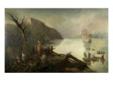 The Landing of Henry Hudson Giclee Print by Robert Walter Weir