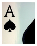 Royal Flush of Spades Giclee Print by Teo Alfonso