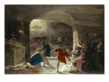 Persecution of the First Christians Giclee Print by Giuseppe Mancinelli