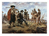 Trading with the Indians Giclee Print by Sidney King