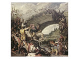Battle at the Mulvian Bridge, 312 Ad Giclee Print by Pieter Lastman