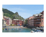 Cinque Terre Vernazza Harbor Photographic Print by Marilyn Bast Dunlap