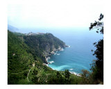 Cinque Terre Corniglia with vineyards Photographic Print by Marilyn Bast Dunlap