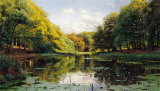 River Landscape Posters by Peder Mork Monsted