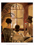Cafe du Coin Poster by Trish Biddle